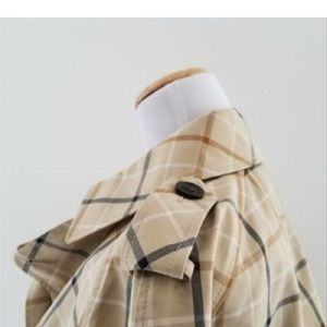 Coach Jackets & Coats - Coach Cropped Plaid Trench